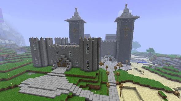 Castle with market