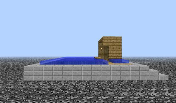 Indoor fishing pond for Indoor fishing